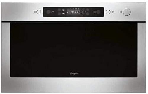 Whirlpool AMW 423/IX Integrado 22L 750W Negro, Acero inoxidable - Microondas (Integrado, 22 L, 750 W, Botones, Negro, Acero inoxidable, Electrónico)