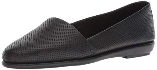 Aerosoles MS Softee Ballet Flat, Black Leather, 9 W US