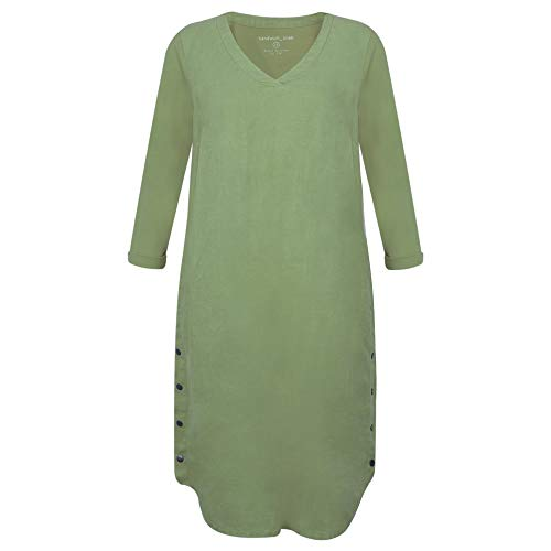 Sandwich dames linnen jurk met knopen