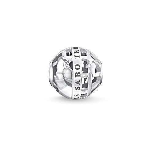 THOMAS SABO Damen-Bead Karma Weltkugelperle aus 925 Silber - K0261-001-21