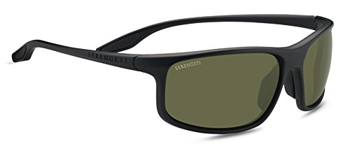 SERENGETI 8608 Gafas, Unisex Adulto, Negro (Satin Black), M/L