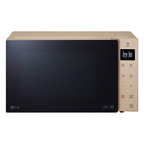 LG MH6535GISA Grill Smart Inverter Microonde 1000 W, Grill 900 W, Micro+Grill 1450 W, Capacità 25 litri, Display LED, Piatto interno 292 mm, Ash Blonde