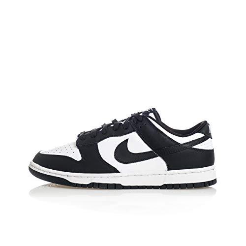 Nike Dunk Low Retro, Zapatillas de bsquetbol Hombre, White Black White, 42 EU