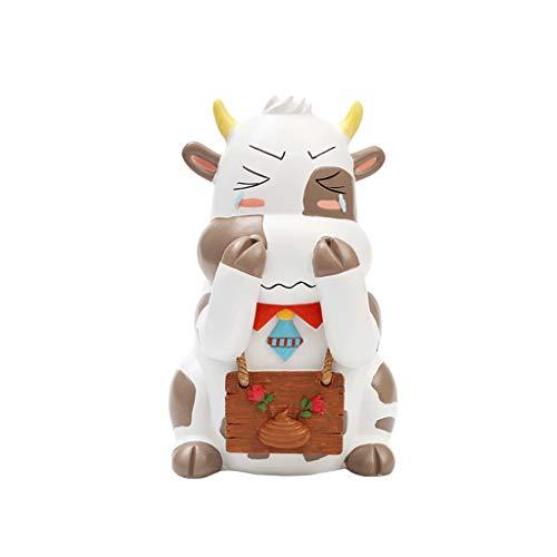 RWX Cepillo Y Soporte De Higorios De Dibujos Animados Creativos, Cubo De Almacenamiento De Cepillo De Inodoro, para Apartamento En Casa Decoración De Baño (Color : Cow)