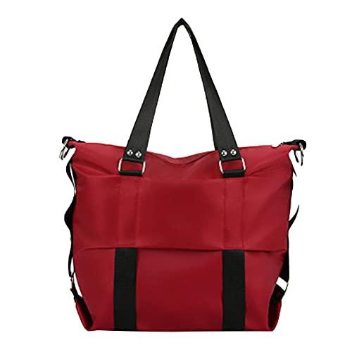 Nicebags Bolso de hombro de nylon grande, Bolso de hombro de las señoras (rojo, 1, S,