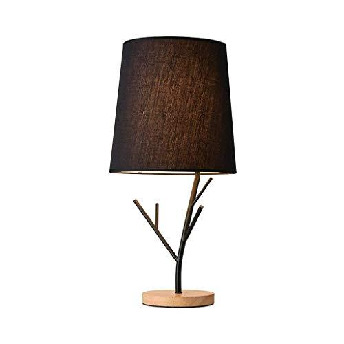 Lámpara de Mesa Nordic dormitorio lámpara de cabecera moderna minimalista tabla de ramas Protección de los ojos de la lámpara de madera del jardín del arte del viento mesa de estudio Lámpara regalo Lá
