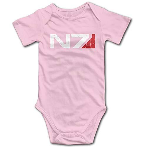 Mass Effect N7 Logo Infant Girl Boys Clothes 100% Cotton Bodysuit Funny Cute Jumpsuit 0-24M