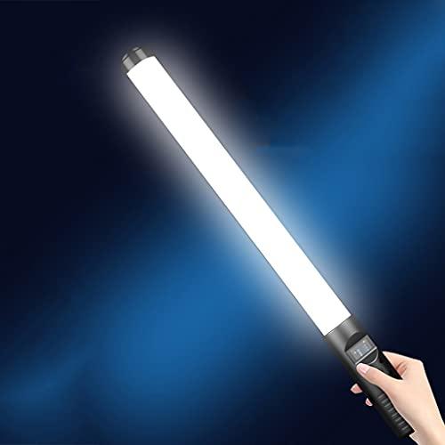 JDKC- Palillo de Luz LED de Fotografía, CRI≥96, Atenuación Continua 3000K-6500K, con 18 Tipos de Luces de Escena, para Video/Youtube Light Stick, 2 Piezas