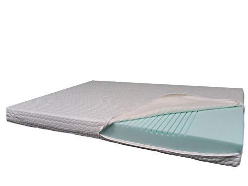 7-Zonen-Comfortschaum-Kern-Matratze 90x200x17,5cm, Härtegrad H1(RG40), Bezug Milano