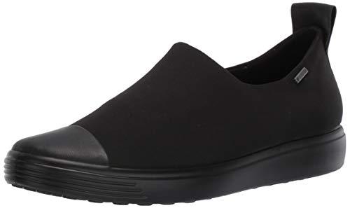 ECCO Women's Soft 7 Gore-TEX Slip On Sneaker, Black/Black/Black, 9-9.5