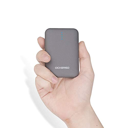 ockered Handy Powerbank 10000mAh, Mini Externer Akku mit Dual 2.4A Output Klein and Kompakt Portable Phone Charger, Tragbares Ladegerät mit USB für iPhone, Samsung,iPad,Nintendo Switch,und weitere