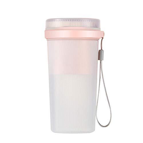 OGTFRWS 300ml USB Recargable Mini Fruit Fruit Juicer Portátil Smoothie Maker Deportes Botella Juicing Cup Juicer Multifuncional (Color : Pink)