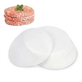 "GWHOLE 500 Pack of Restaurant-Grade Non-Stick Hamburger Patty Paper Round Wax Paper, 4.5"" Dia"
