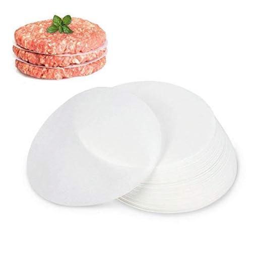GWHOLE 500 Pack of Restaurant-Grade Non-Stick Hamburger Patty Paper Round Wax Paper, 4.5'' Dia  