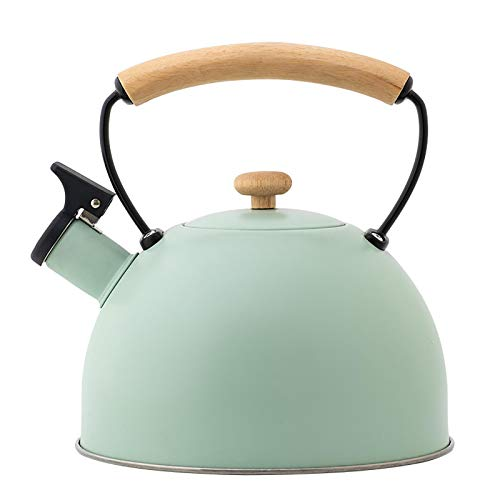Erfula Hervidor de té con silbido Superior para Estufa de 25L Exquisita Tetera de Acero Inoxidable para Utensilios de Cocina con Mango Recubierto de Silicona Decent
