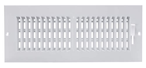 Accord ABSWWH2124 Sidewall/Ceiling Register with 2-Way Design, 12-Inch x 4-Inch(Duct Opening Measurements), White