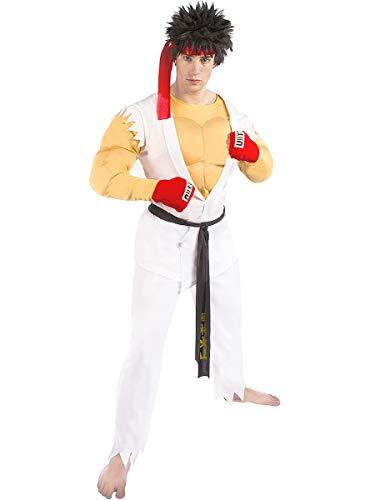 Funidelia | Disfraz de Ryu - Street Fighter Oficial para Hombre Talla S ▶ Street Fighter, Videojuegos, Años 80, Arcade - Blanco