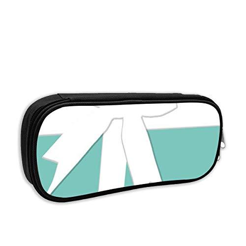AOOEDM Fashion School Pencil Case, Blue Tiffany Inspired Turquoise Si prega di restituire Designer Pen Bag Borsa per cancelleria per ufficio e scuola