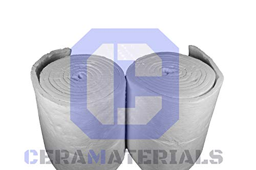 Review CeraMaterials Ceramic Fiber Blanket Insulation 8# 2300F 1x24x5' for Wood Stoves, Pizza Oven...