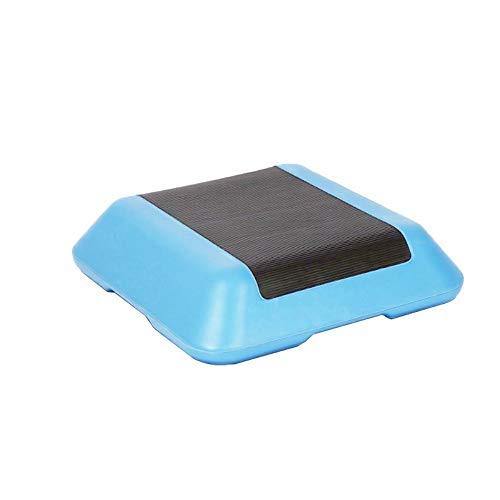 Jtoony Steps de Aerobic Mini Fitness Ejercicio Step Entrenamiento Ajustable Aerobic Stepper Platform Trainer Equipo de Gimnasio en casa con Elevador Step para Fitness (Color : Blue, Size : A4)