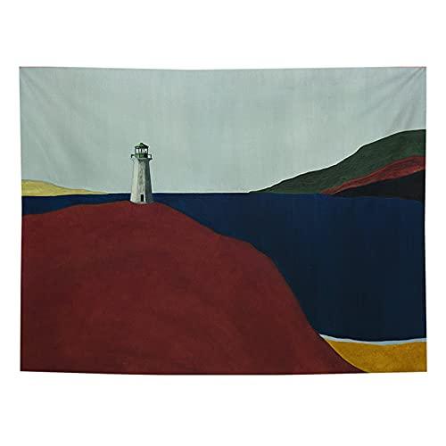 YYRAIN Tapiz De Decoración De Paisaje Tapiz De Imagen De Paisaje De Playa Adecuado para Uso En Sala De Estar del Dormitorio Principal 130x150cm(Thicken)(WxH) A