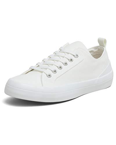 VULCAZ® Classic Low Nachhaltige Sneaker Damen aus Bio-Baumwolle   Vegane & besonders Atmungsaktive Damen-Schuhe mit Innensohle aus Kork-Latex   Off White   Größe 38