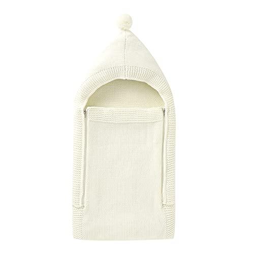 Soapow Manta tejida para bebé recién nacido, saco de dormir para bebés de 0 a 4 meses