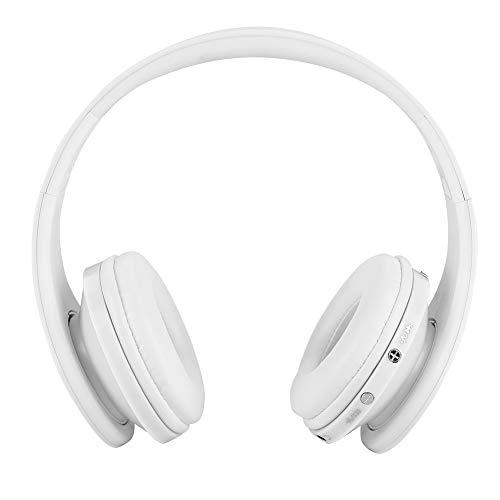 Jadpes Bluetooth-gaming headset, HiFi-Sound Bluetooth headset 12 uur telefoneren / 10 uur muziek Bluetooth koptelefoon voor PS4-microfoon met intrekbare ruisonderdrukking
