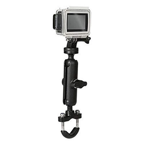 FUQUANDIAN Soporte de la cámara negro bicicletas manillar de la motocicleta espejo Soporte de montaje de 1/4 Soporte metálico for GoPro Hero8 / 7/6/5/4/3 + Acción Cámaras de accesorios accesorios de s