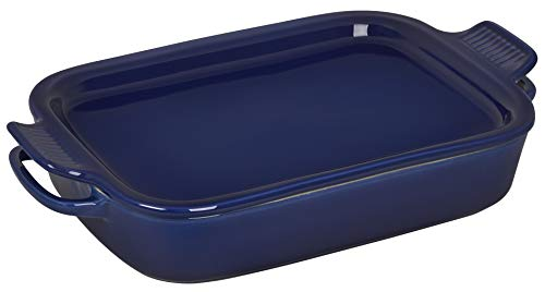 Le Creuset Stoneware Rectangular Dish with Platter Lid, 14 3/4'x9'x2 1/2' (2.75 qt.), Indigo