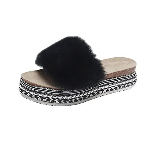 WINTOM Sandalo Donna Estivo Tacco Alto Summer Sandals 2021 Tacchi A Spillo Sexy Scarpe Da Donna Pantofole In Lana Moda Pantofole Con Plateau