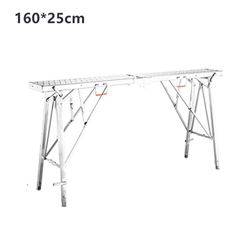 Metal Platform Ladder, Decoratie Ladder Cargo Warehouse Stepladders Household Portable Trappen/Folding Dikte 17 cm (Maat: 25 * 200cm) XIUYU (Size : 25 * 160cm)