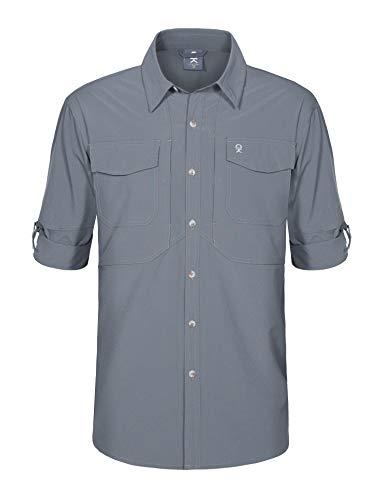 Asfixiado Womens Hiking Shirts-Quick Dry Sun UV Protection Convertible Long Sleeve Casual Shirt Blouse for Active Camping Fishing Sailing