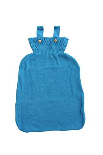 Disana Baby Strick Schlafsack aus Bio-Merinoschurwolle (02 = 75 cm, Blau)