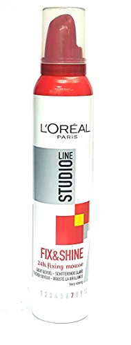 L'Oreal Paris Studio Line Fix & Shine 24H Fixing Mousse (200Ml)