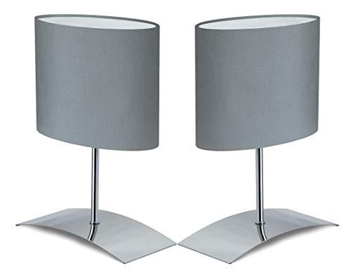 Trango 2er Pack Design Tischleuchte Nachttischlampe Schreibtischleuchte Lampe 2TG2018-04G