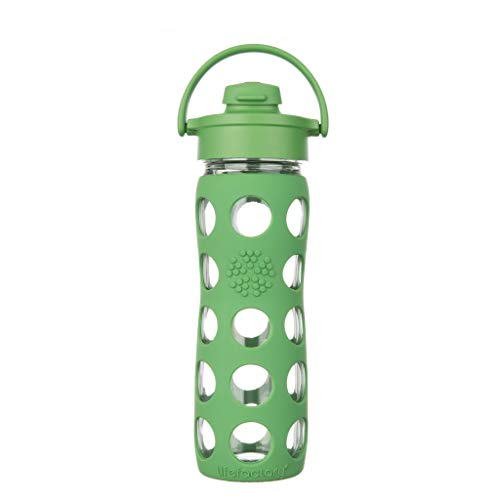 Lifefactory - Borraccia in vetro, Verde (grass green), 475ml