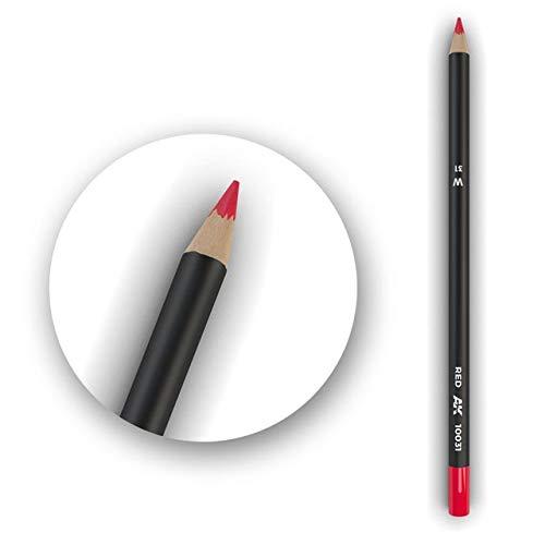 AK Interactive Color Pencil Red Box - 5 Units # 10031