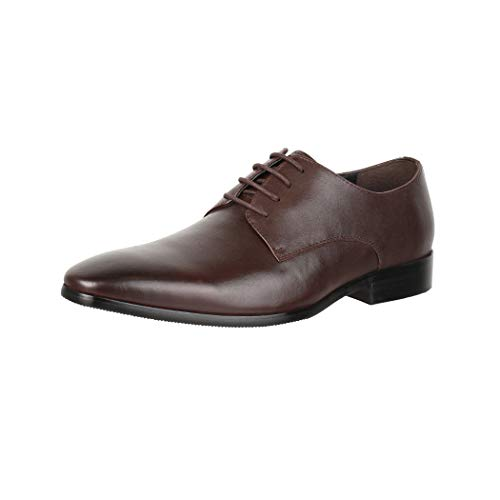 Elara Herren Leder Schuhe Business Schnürschuhe Chunkyrayan RL1726-1 Marron-45