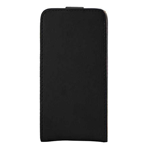 YANTAIANJANE Estuches de Cuero de teléfono For Samsung Galaxy J1 (2016) / J120 Funda de Cuero de Flip Vertical.Bolsa de cinturón con Hebilla magnética (Color : Black)