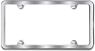 AutoStuff - Camisasca Brushed Finish License Plate Frame 4 Hole