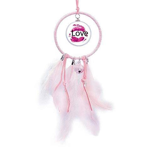 Beauty Gift Atrapasueños de labios rosa para el día de San Valentín con forma de campana pequeña