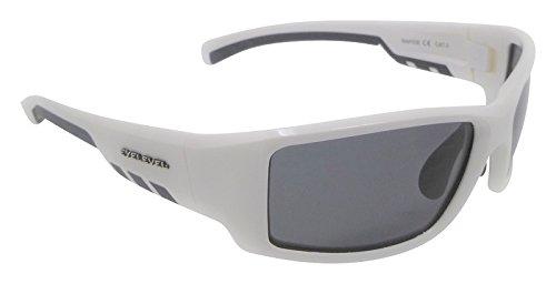 Rapide White Gafas de sol polarizadas Gris Cat-3 UV400 Lentes