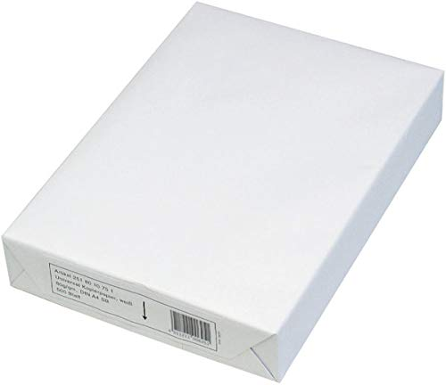 Kopierpapier Standard, A4, ca. 80g/qm, Weißgrad (CIE) ca. 150CIE, weiß