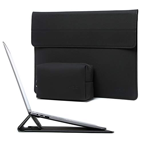 HYZUO 13-13.5 Inch Laptop Sleeve Water-resistant Case with Stand Feature Compatible with 13.5 Surface Laptop/Old MacBook Air 13/2012-2015 MacBook Pro 13/12.9 iPad Pro 2015 2017, Black