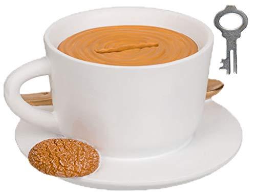 Bada Bing Spardose Kaffeetasse Kaffeekasse Ca. H 7cm x D 13cm Origineller Blickfang An Einer Theke Café oder Kaffeebar Geschenk Einweihung Für Kaffeeliebhaber 35