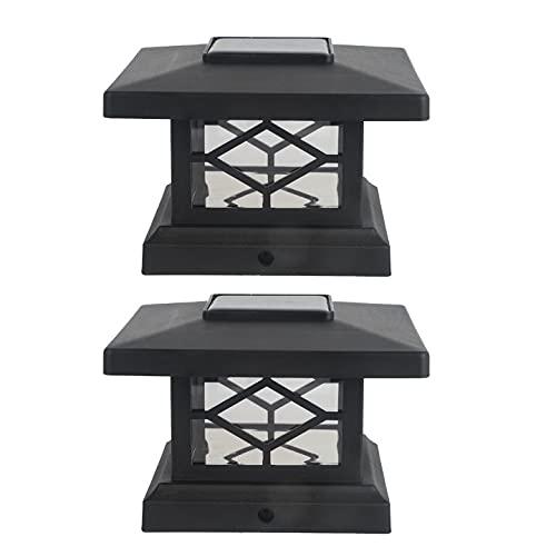 Luces de tapa de poste solar Interruptor de control de luz impermeable,...