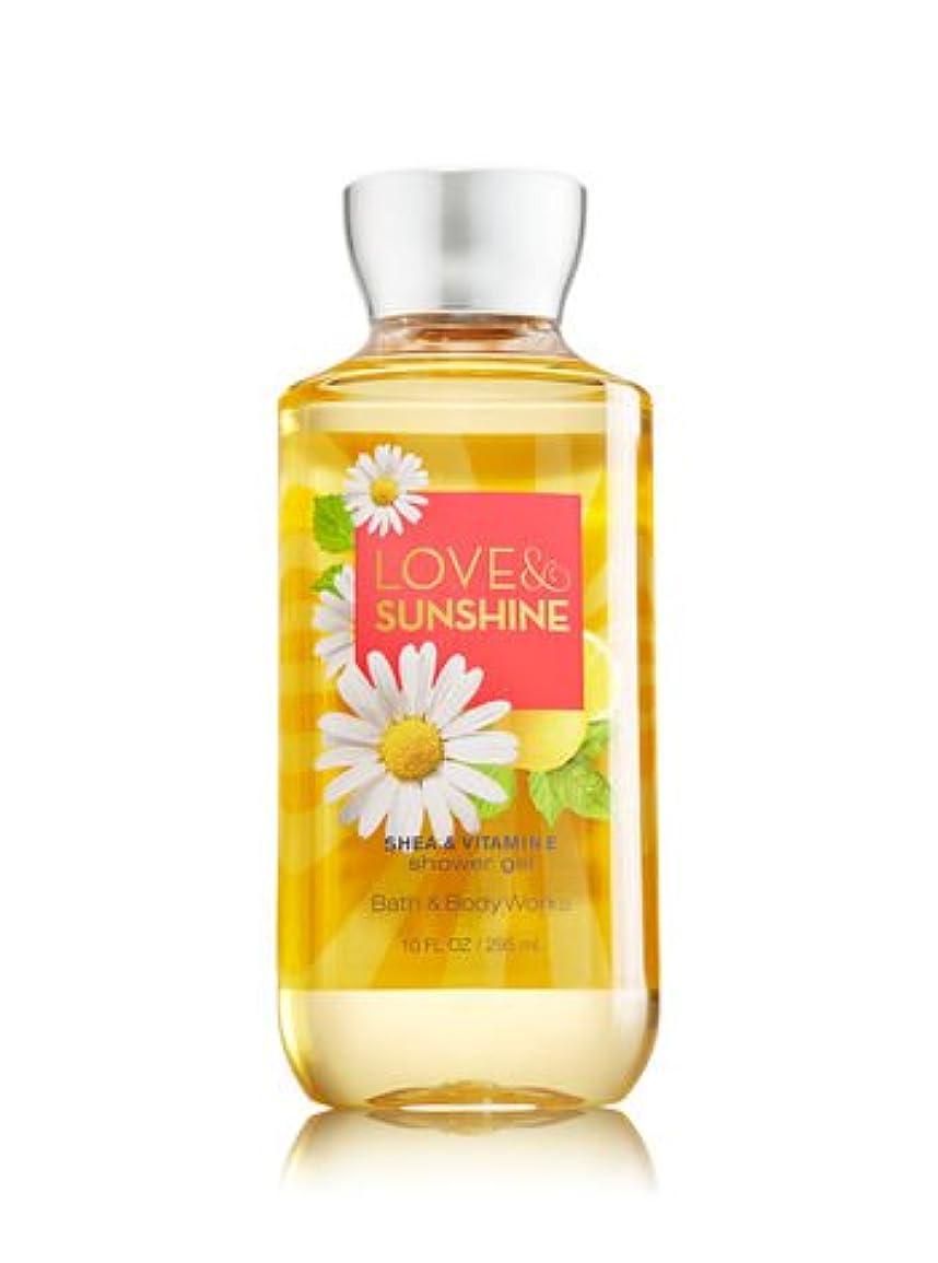 強風有能な注入する【Bath&Body Works/バス&ボディワークス】 シャワージェル ラブ&サンシャイン Shower Gel Love & Sunshine 10 fl oz / 295 mL [並行輸入品]