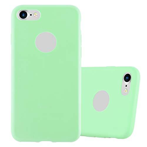 Cadorabo Funda para Apple iPhone 7 / 7S / 8 / SE 2020 en Candy Verde Pastel - Cubierta Proteccíon de Silicona TPU Delgada e Flexible con Antichoque - Gel Case Cover Carcasa Ligera