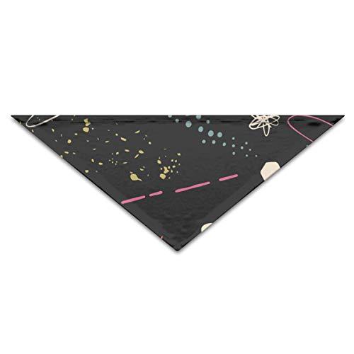 Sunny R Pet Drool Lätzchen Bunte Weltraumsterne Galaxien Sternbilder Hund Bandana Dreieck Schal für Haustier Katzen und Welpen